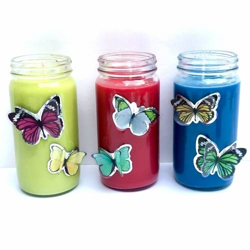 A Candle Making Butterfly Kisses  Set of 3 candle maker project by Yaymaker