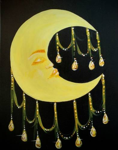 A Chandelier Moon paint nite project by Yaymaker