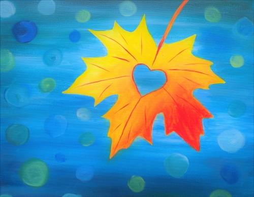 A I Leafing Heart Fall paint nite project by Yaymaker