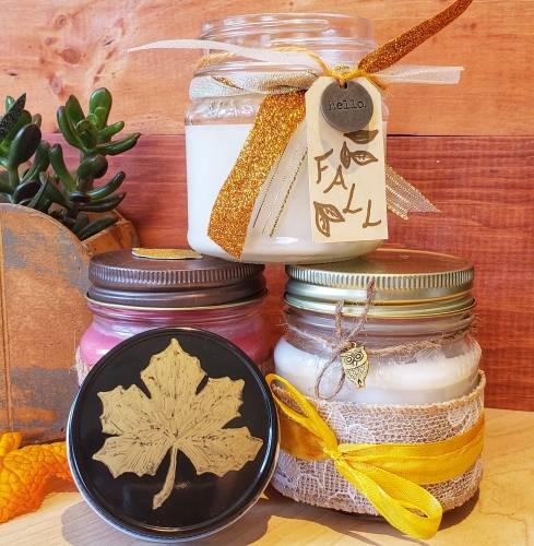 A Fall Candles candle maker project by Yaymaker
