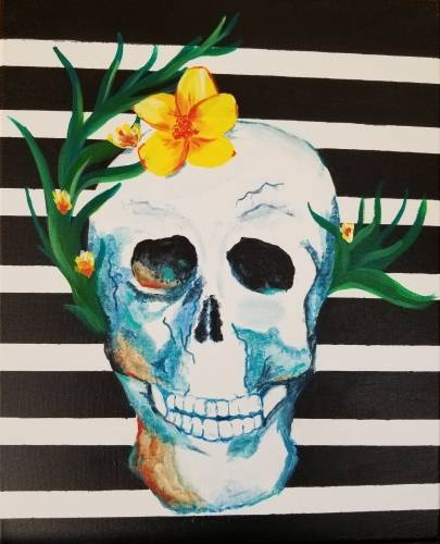 A Death Becomes Her paint nite project by Yaymaker