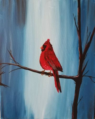 A Cool Cardinal paint nite project by Yaymaker