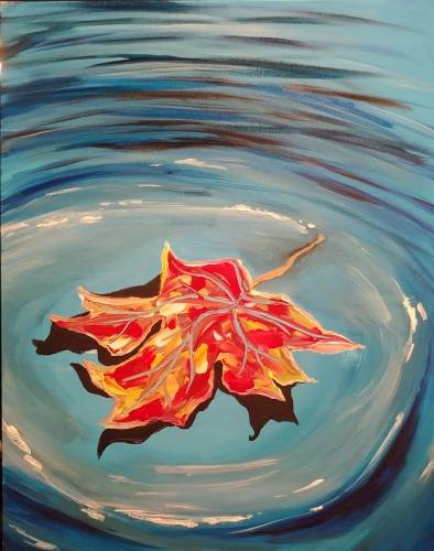 A Floating Canadian Autumn paint nite project by Yaymaker