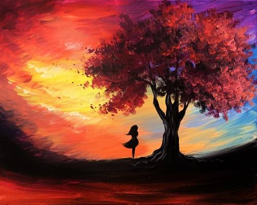 A Lost in the Sunset paint nite project by Yaymaker