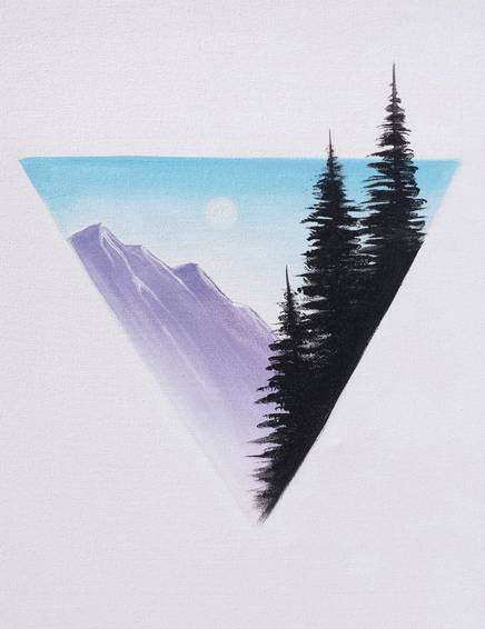 A Rocky Mountain Range paint nite project by Yaymaker