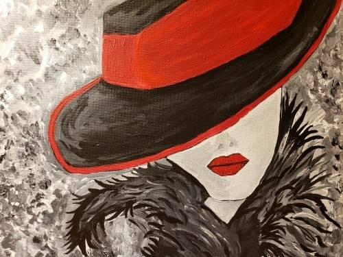 A My Ladies Hat IV paint nite project by Yaymaker
