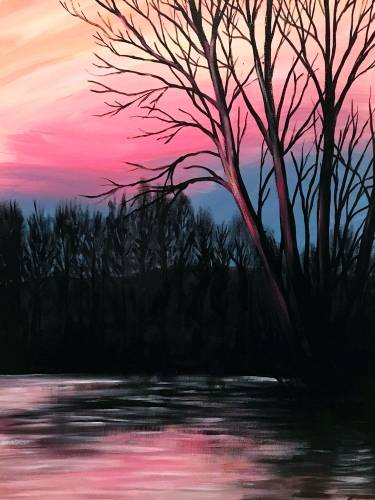 A River Sunset Sky paint nite project by Yaymaker
