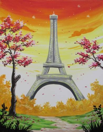 A Paris in Fall paint nite project by Yaymaker