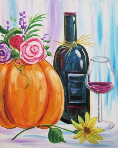 A My Fall Still Life paint nite project by Yaymaker