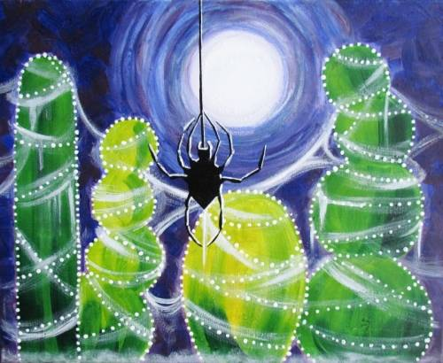 A Cobweb Cacti paint nite project by Yaymaker