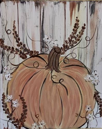 A Barn Door Pumpkin paint nite project by Yaymaker