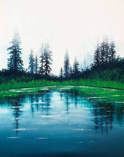 A Tranquility Lake paint nite project by Yaymaker