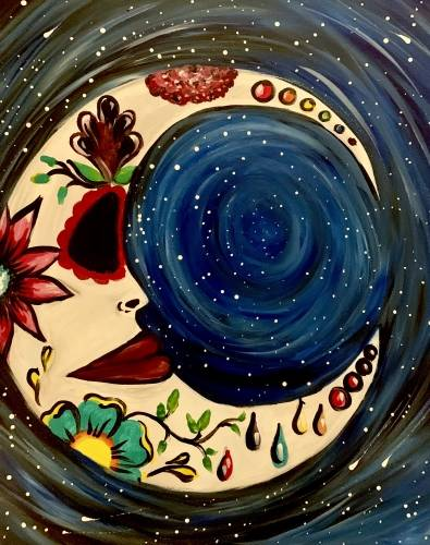 A Look At That Moon paint nite project by Yaymaker