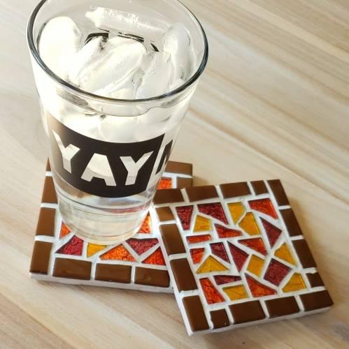 A Fall Mosaic make a mosaic project by Yaymaker