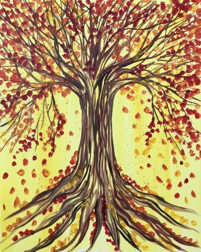 A Harvest Tree of Life paint nite project by Yaymaker
