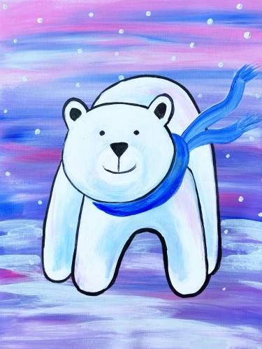 A Chilly Polar Bear paint nite project by Yaymaker