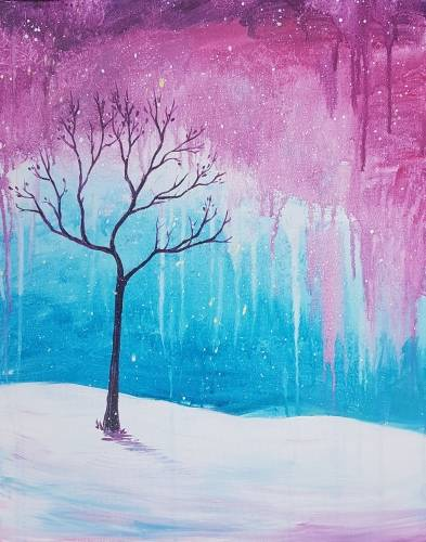 A Lonely Winter Tree paint nite project by Yaymaker