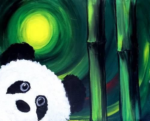 A Bamboo Panda paint nite project by Yaymaker