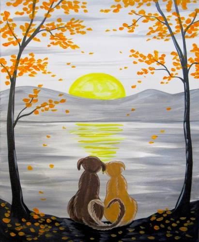 A Labs Falling In Love paint nite project by Yaymaker