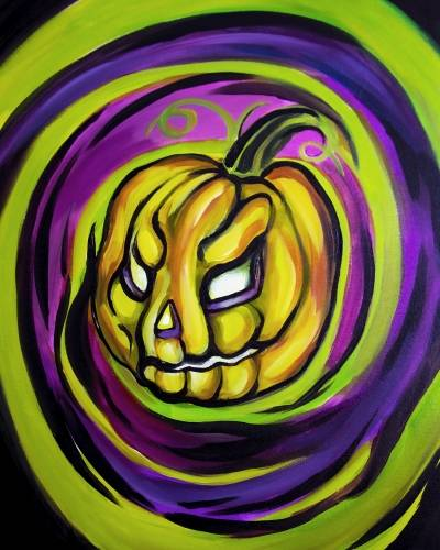 A Twisted Pumpkin paint nite project by Yaymaker
