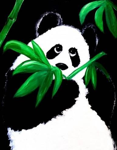 A Bamboo Panda II paint nite project by Yaymaker