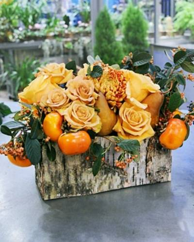 A Thanksgiving Family Flower Arrangement flower workshop project by Yaymaker