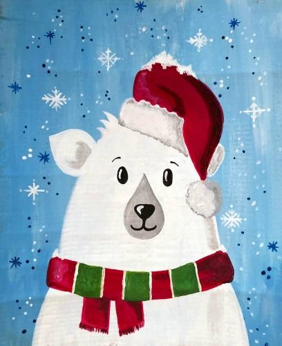 A Holiday Polar Bear II paint nite project by Yaymaker