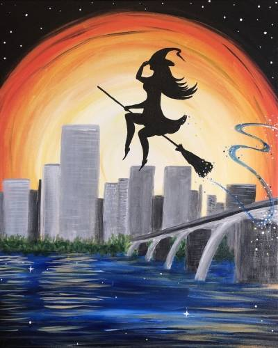 A River City Witch paint nite project by Yaymaker