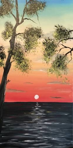 A October Sun paint nite project by Yaymaker