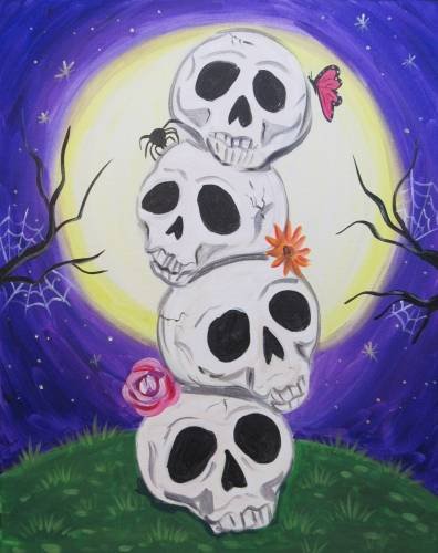 A StackOSkulls paint nite project by Yaymaker
