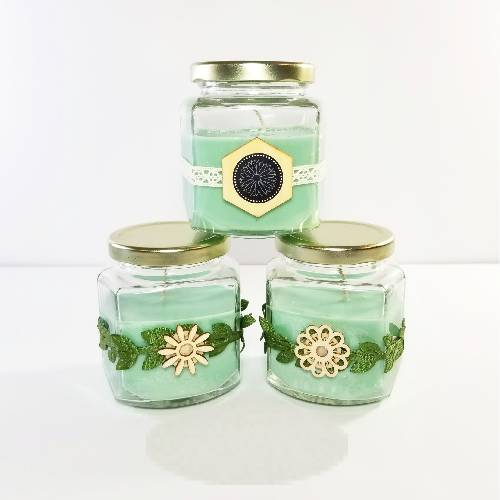 A Hexagon Jar Soy Candles candle maker project by Yaymaker