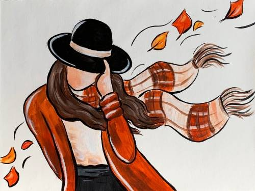 A Windy Autumn Day paint nite project by Yaymaker