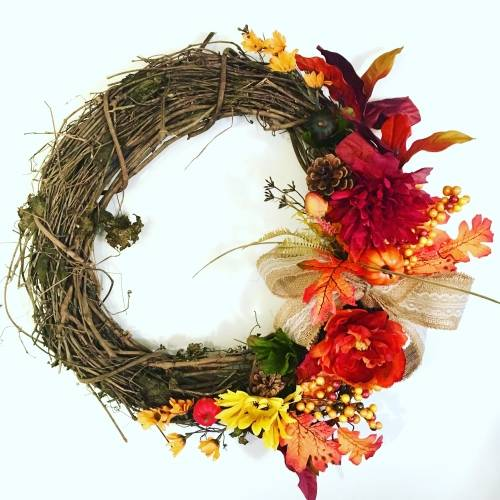 A Fall Wreath 18  Create Your Own plant nite project by Yaymaker