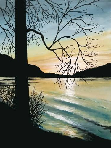 A Cultus Lake Sunset paint nite project by Yaymaker
