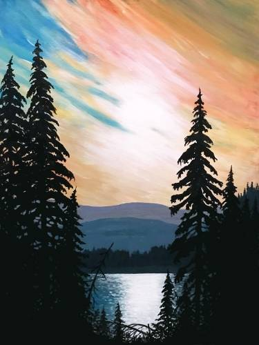 A Cedar Lake Sunset paint nite project by Yaymaker