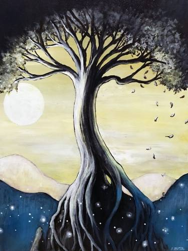 A Mountain Top Tree paint nite project by Yaymaker