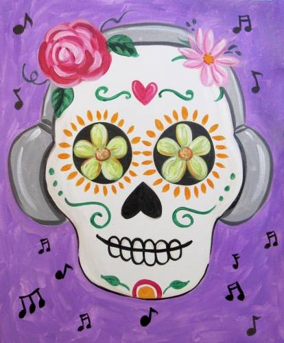 A Calavera Musica paint nite project by Yaymaker