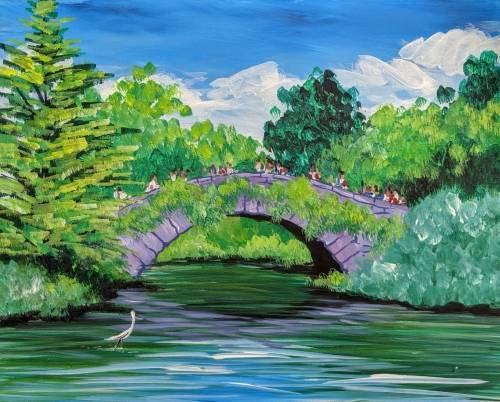 A Gapstow Bridge Central Park paint nite project by Yaymaker