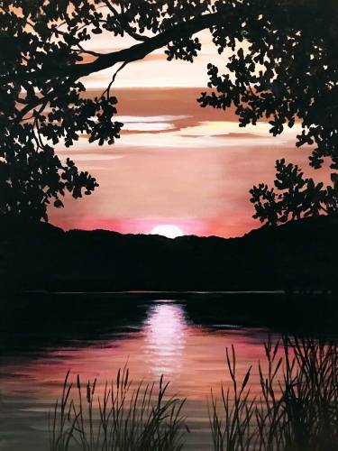 A Riveredge Sunset paint nite project by Yaymaker
