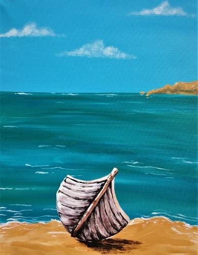 A Beached Boat paint nite project by Yaymaker