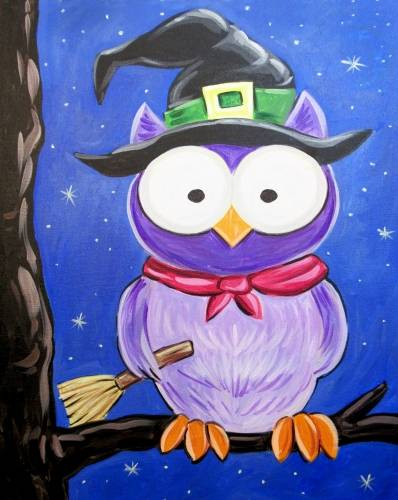 A Owl Be Witchin paint nite project by Yaymaker