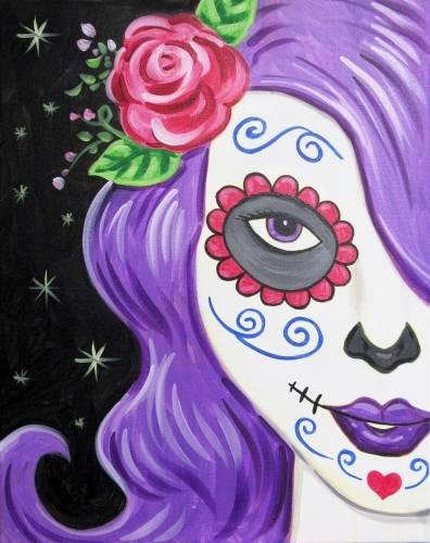 A Purplehead Calavera paint nite project by Yaymaker