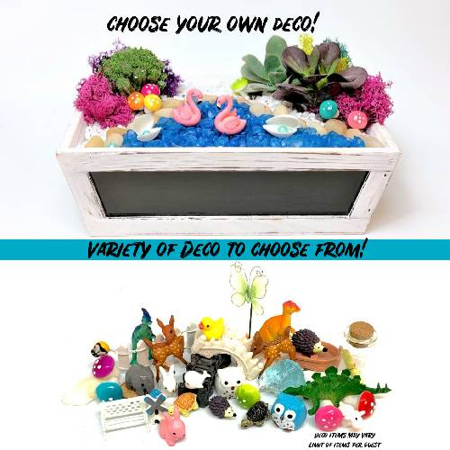 A Chalk Board Choose Your Own Deco plant nite project by Yaymaker