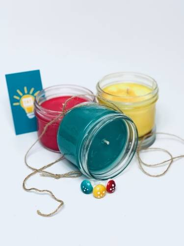 A Choose Your Own Colors  Scent Candle Trio candle maker project by Yaymaker