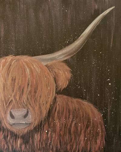 A Hairy Cow paint nite project by Yaymaker