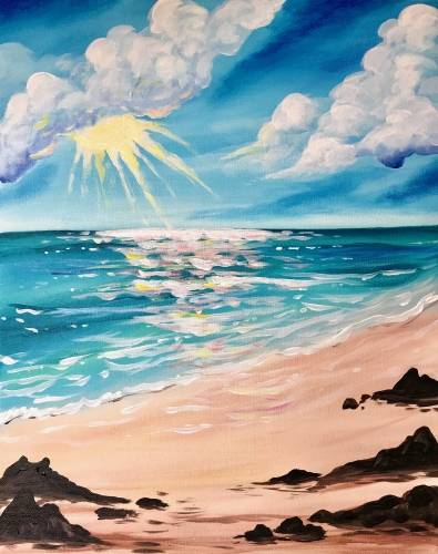 A Beach Beauty paint nite project by Yaymaker