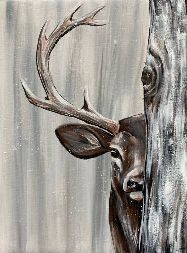 A Winter Stag II paint nite project by Yaymaker