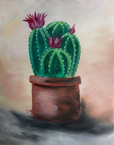 A Little Potted Succulent paint nite project by Yaymaker