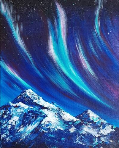 A Northern Lights Peak paint nite project by Yaymaker