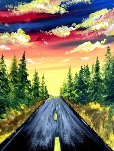 A The Scenic Route II paint nite project by Yaymaker